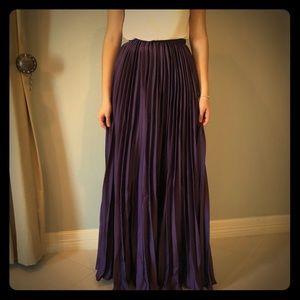 Silky purple skirt